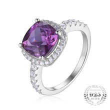 5.35ct Cushion-Cut Alexandrite , Sterling Silver Ring