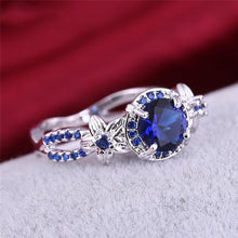Attractive Sapphire , White Gold filled Ring