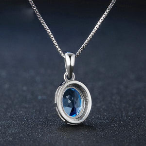 Gorgeous Natural Blue Topaz, Sterling Silver Necklace