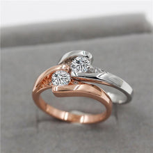 Luxurious Semi Precious, Rose Gold filled or Platinum plated Diamond look Ring