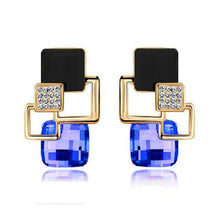 Hot Fashion Brincos Vintage Long Square Crystal Earring