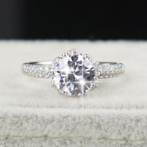 Sparkling Diamond Aries Birthstone Ring