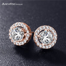 Elegant AAA CZ Earrings, available in 3 colored metals
