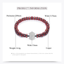 Stunning Silver Crystal Diamond look Bracelet or Black with Red Crystal Colors Magnetic clasp