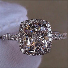 Elegant Setting Silver Filled Wedding Ring Diamond look