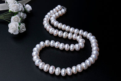 AAAA High Quality Natural Freshwater Pearl Necklace 3 colors 8-9mm 45cm length 924 Sterling Silver Clasp