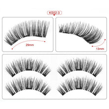 Magnetic eyelashes with 3 magnets handmade 3D/6D magnetic lashes