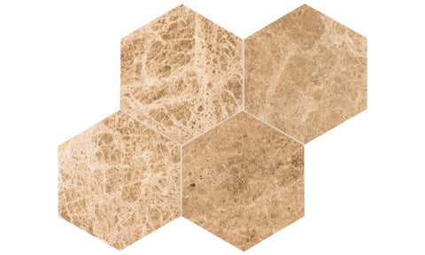 Emperador Light Hexagon Tile