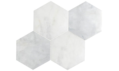 Bianco Carrara Hexagon Tile