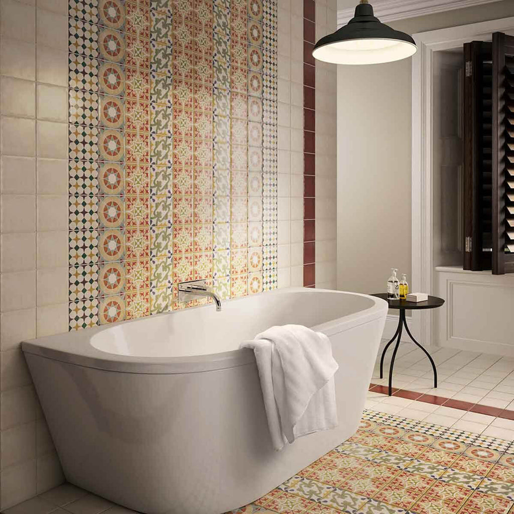 2018 bathroom tile trends patchwork moroccan tiles
