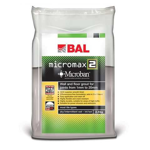 BAL - 5kg Micromax2 Rapid-setting Tile Grout