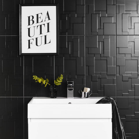 Black Satin Wall Tile