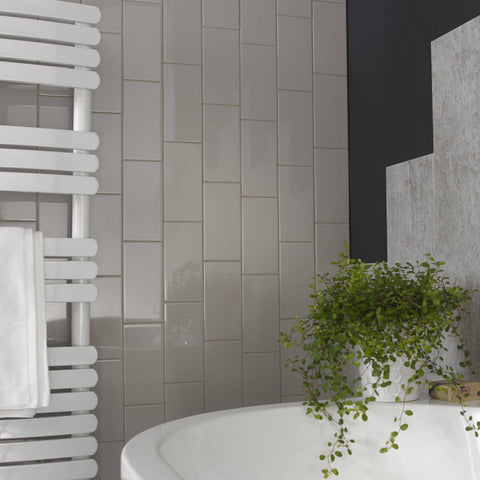 British Ceramic Tile Cosmopolitan Grey Gloss Wall