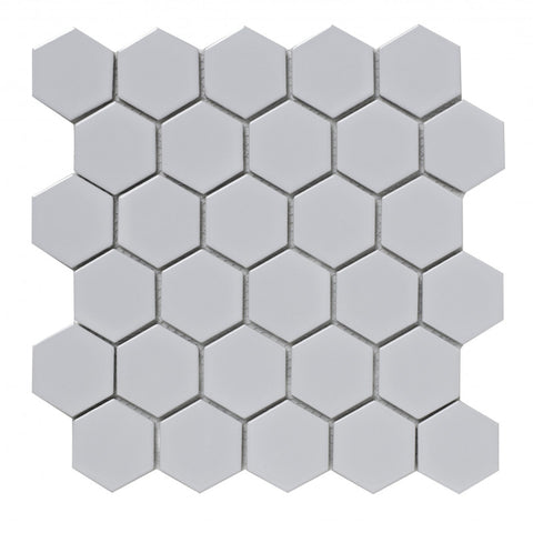 White Hexagon Porcelain Mosaic
