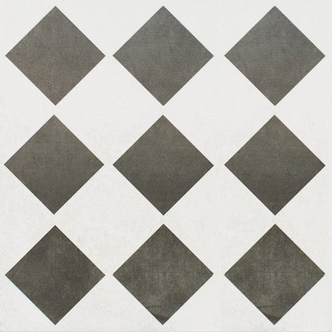 Canterbury Black & White Check Wall & Floor Tile