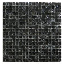 Gemini Mosaics Antracite Mix Glass & Stone Mosaic Tile - 15x15mm (Sheet 300x300mm)