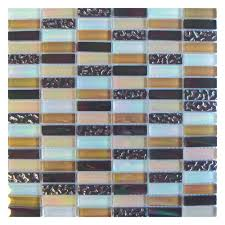 Gemini Mosaics Elements Desert Glass Mosaic Tile - 48x15mm (Sheet 300x300mm)