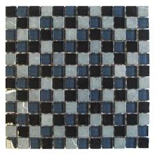 Gemini Mosaics New York Stone & Glass Mosaic Tile - 23x23mm (Sheet 300x300mm)