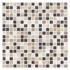 Gemini Mosaics Persia Metal/Glass/Stone Mosaic Tile - 15x15mm (Sheet 300x300mm)