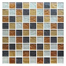 Gemini Mosaics Zaria Amber Glass Mosaic Tile - 31x31mm (Sheet 300x300mm)