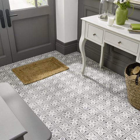 Laura Ashley The Heritage Collection Mr Jones Charcoal Floor
