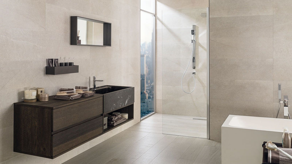 Textured Tiles Porcelanosa Deco Boston Topo 31,6×90 cm