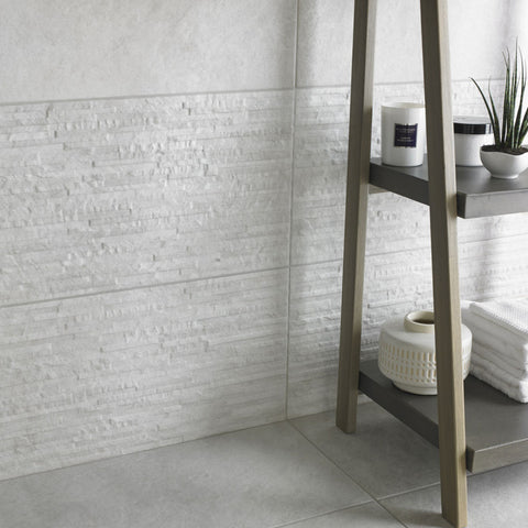 Texture Tiles White Splitface Wall Tiles