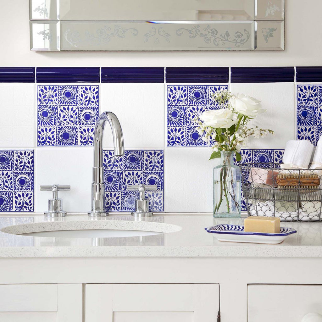 Cobalt Gloss Textured Wall Tile