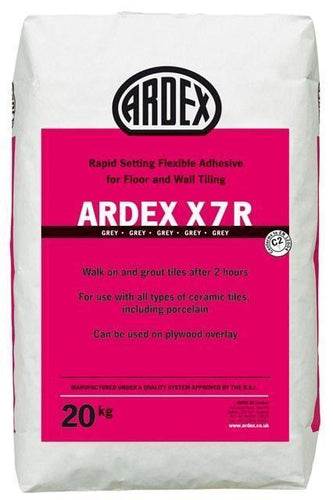 Ardex X7 R Rapid Setting Flexible Adhesive Grey