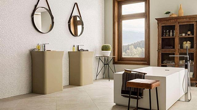 Porcelanosa Fleur Textured Wall Tiles 33.3x100