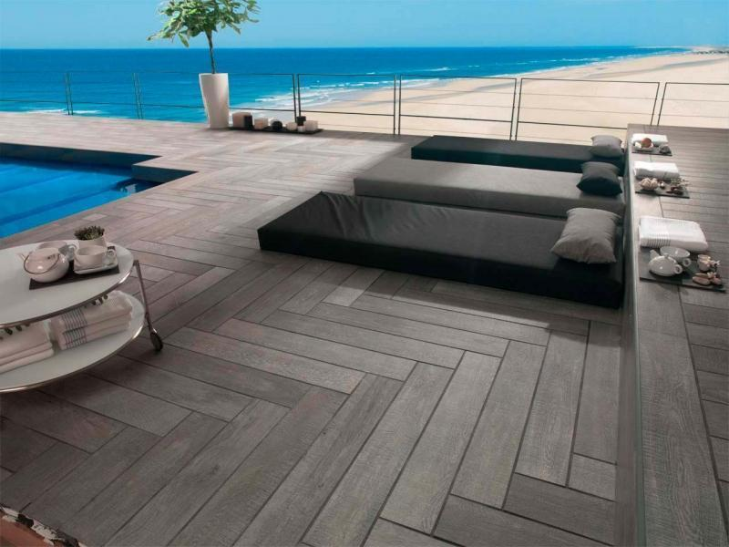 PORCELANOSA OXFORD ANTRACITA WOOD EFFECT 22X90CM PORCELAIN TILE