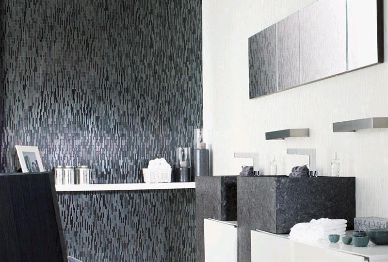 Porcelanosa Manhattan Negro 3D Small Ceramic Textured Wall Tile