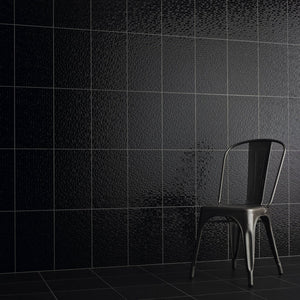 Black Pressed Textured Mosaic Wall Tile - (m2)