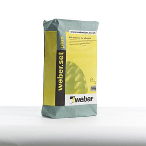 Weber Set Plus Tile Adhesive White 20kg