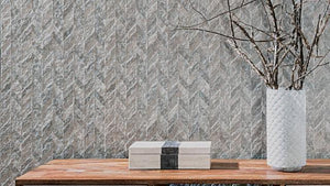 Porcelanosa Pierce Silver Textured Wall Tiles 45x120 cm - (m2)