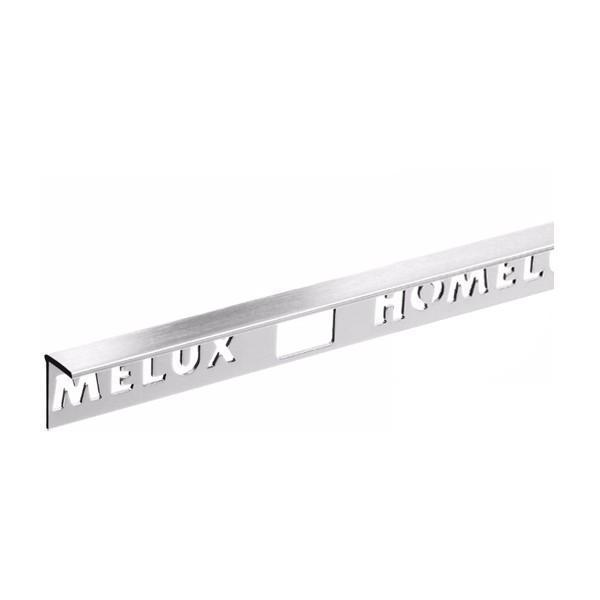 Homelux aluminium silver effect tile trim 10mm