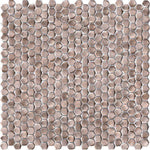 Porcelanosa Gravity Aluminium Hexagon Rose Gold Mosaic 31 x 31cm