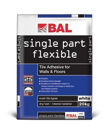 Bal Single Part Flexible Adhesive White