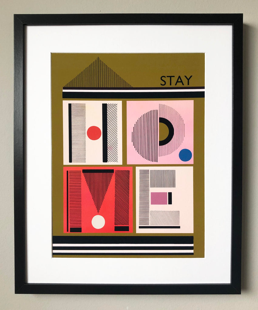 'STAY HOME' PRINT
