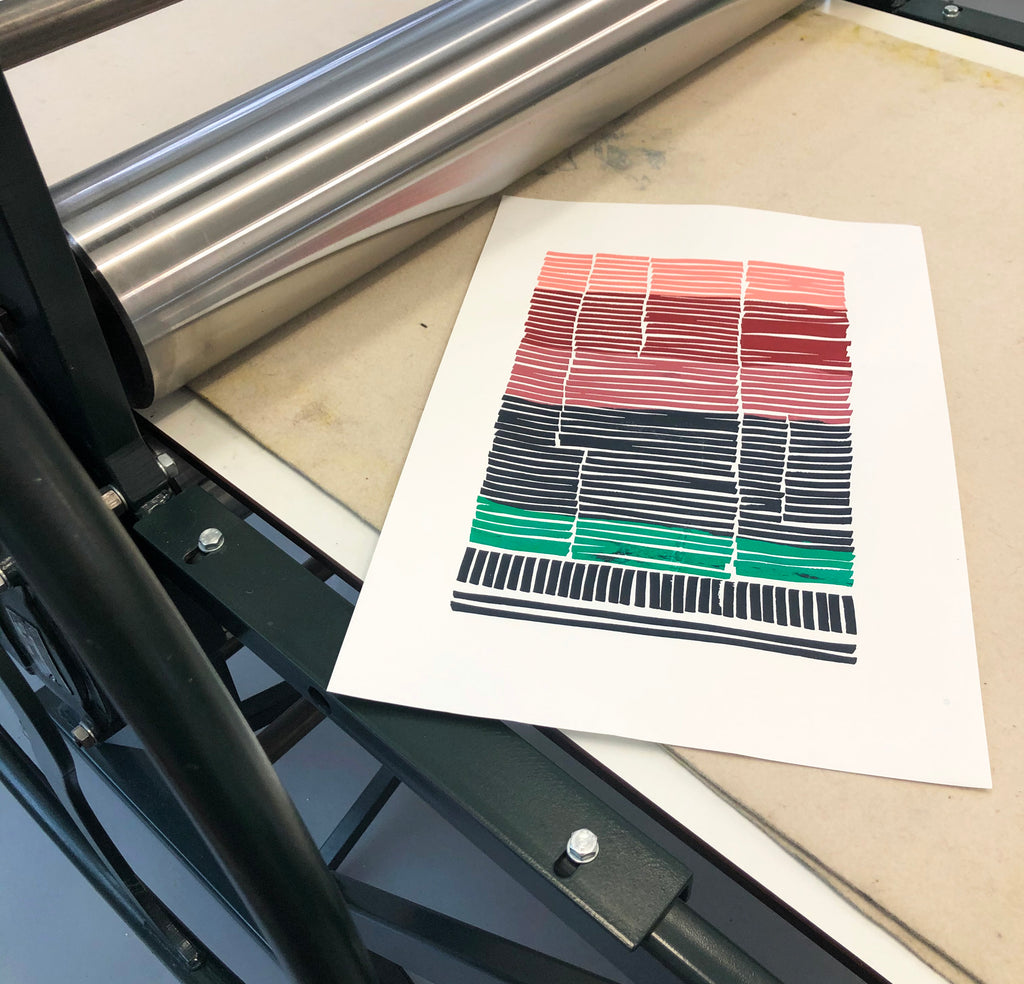 Urban Ombre screen print
