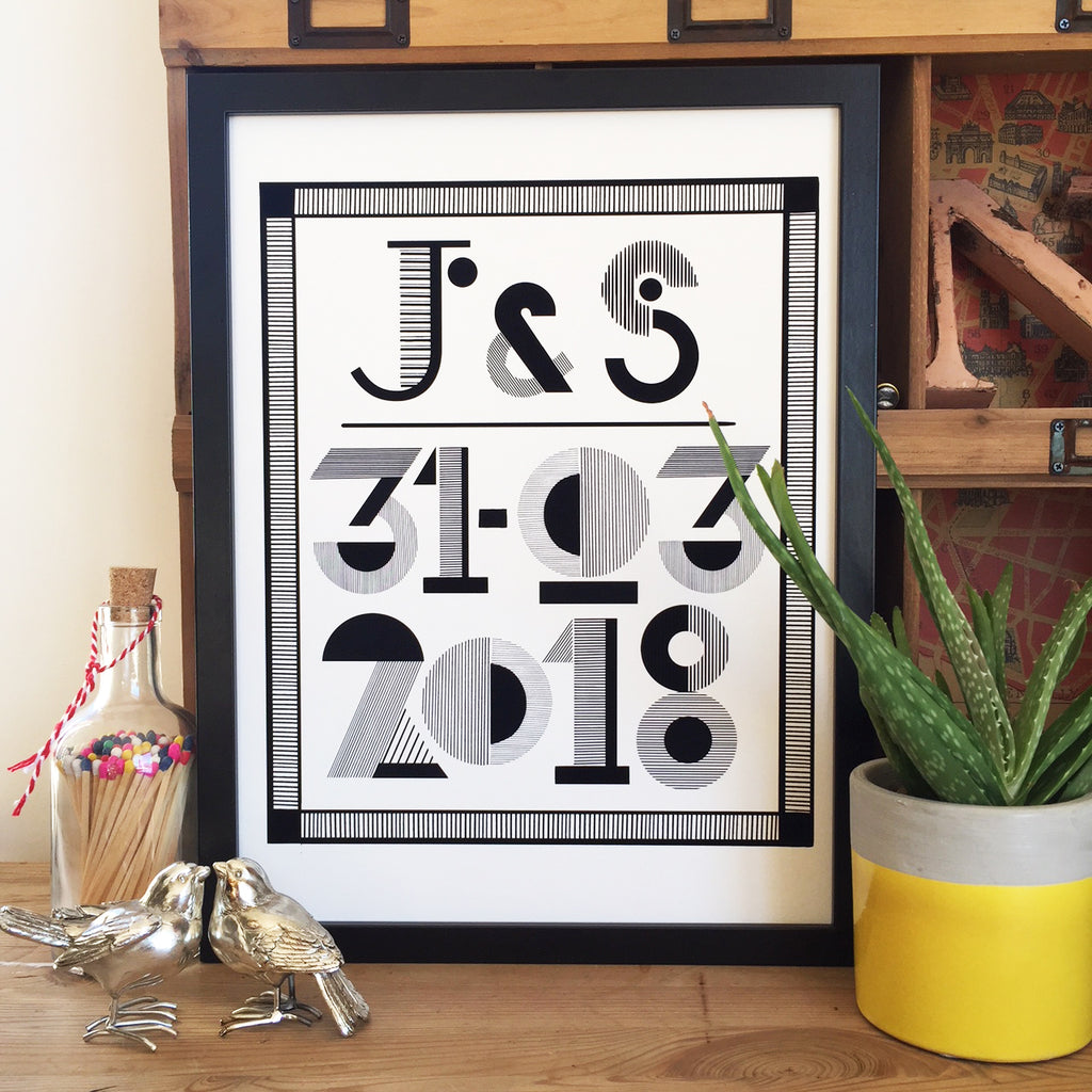 PERSONALISED DATE/NAMES PRINT-DIGITAL