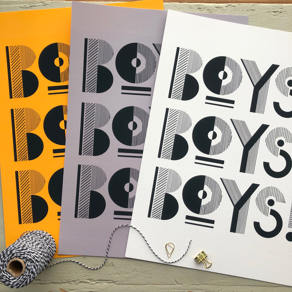BOYS BOYS BOYS!- DIGITAL PRINT