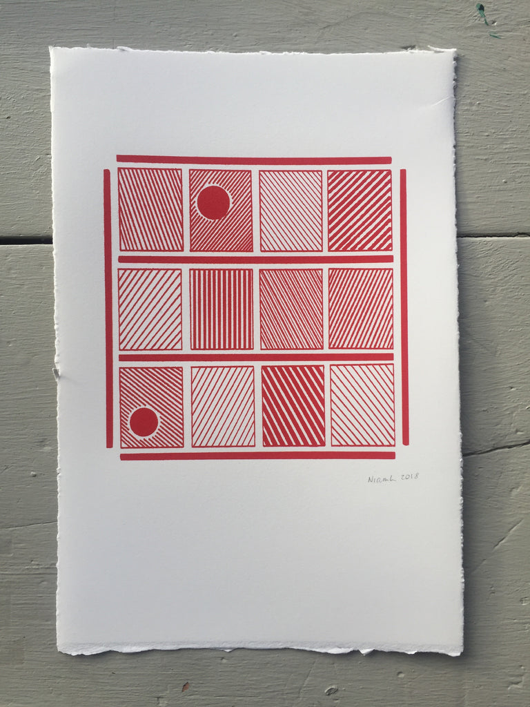 Sunset on panes-SCREEN PRINT