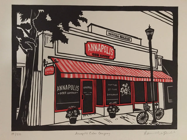 Storefront Print From Deep Hollow Press Annapolis Cider Company