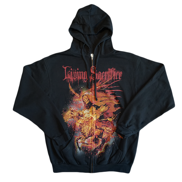 Reaper On Fire Zip Hoodie