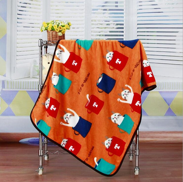 Couverture pour chien et chat orange Soft Fleece (100x75cm)