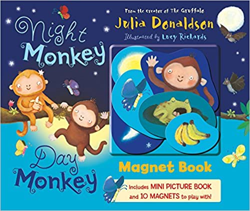 Night Monkey, Day Monkey: Magnet Book
