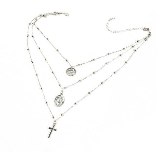 CROSS LAYER NECKLACE