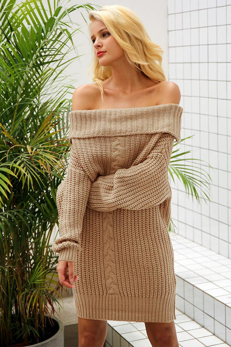 CASUAL KNITTED DRESS
