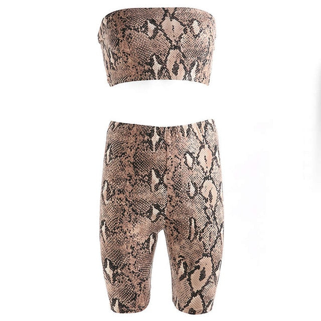 SNAKE SKIN TWO PIECE SET